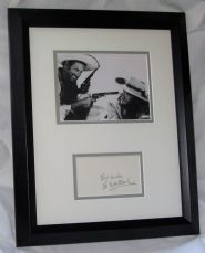 A3 ELI WALLACH SIGNED MATTED FRAMED CARD. AUTHENTIC GUARANTEED AFTAL DEALER #199
